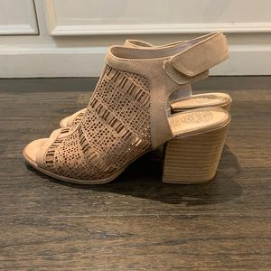 Vince Camuto Suede open toe booties - Size US10